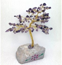 AMETYSTOWE Drzewo Życia - DUŻE (naturalne kamienie i miedź)