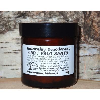 Dezodorant Naturalny CBD i PALO SANTO (słoik, 60g) - DOSKONAŁY! Działa nawet do 72 godzin!