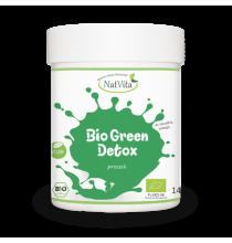 GREEN DETOX BIO, w proszku (140g) - Trawa Jęczmienna, Pszeniczna, Moringa, Pokrzywa, Chlorella