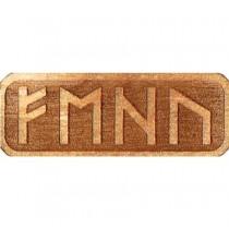 Amulet PRZYCIĄGAJĄCY PIENIĄDZE (drewniany skrypt runiczny)