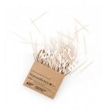 BIODEGRADOWALNE Patyczki Higieniczne do uszu (bambus i organiczna bawełna) - 100 szt
